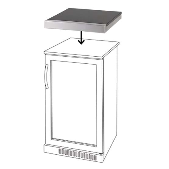 Platinum III 1 Door Bar Fridge Top
