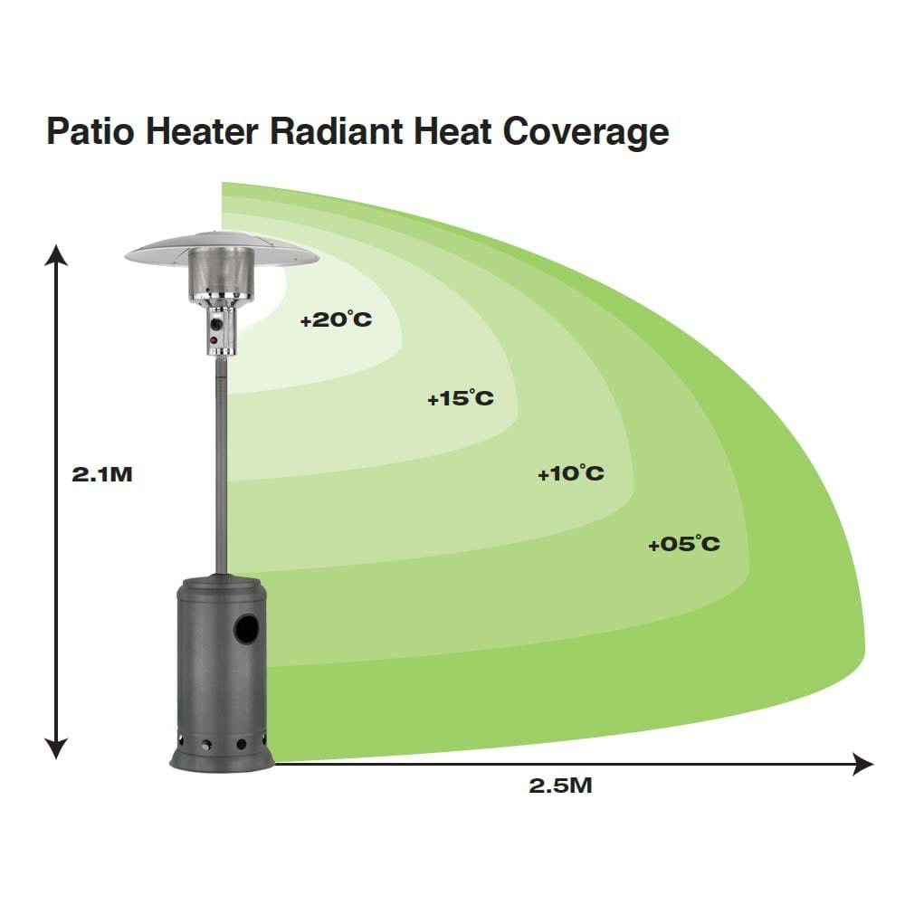 Nova Patio Heater Hammertone 2